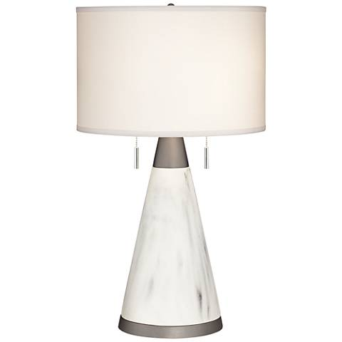 Marbleous Faux Marble Table Lamp