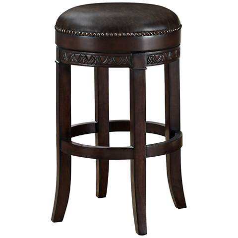 american heritage treviso pepper 34 swivel bar stool u5299 lamps plus. Black Bedroom Furniture Sets. Home Design Ideas