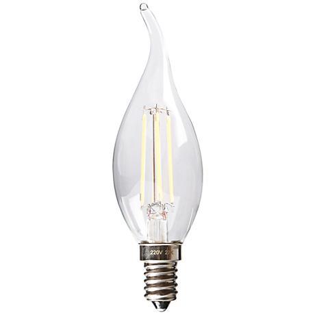 Dimmable Flame Tip 4 Watt E12 Filament LED Candelabra Bulb
