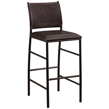 """Colton 26"""" Bourbon Bonded Leather Counter Stool"""