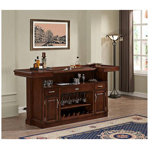 American Heritage Arabella Navajo Wood Home Bar