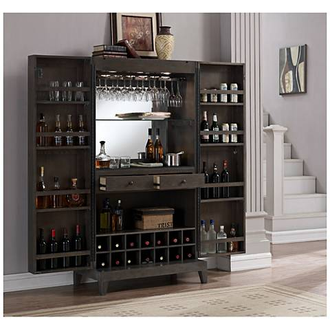 American Heritage Fairfield Glacier Wine Cabinet