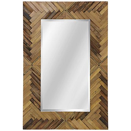 "Woodweave Natural 24"" x 36"" Rectangular Wall Mirror"