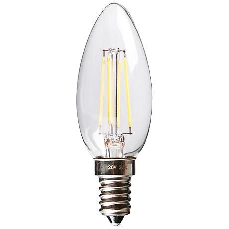 Torpedo LED 3.5 Watt 2700K E12 Filament Candelabra Bulb