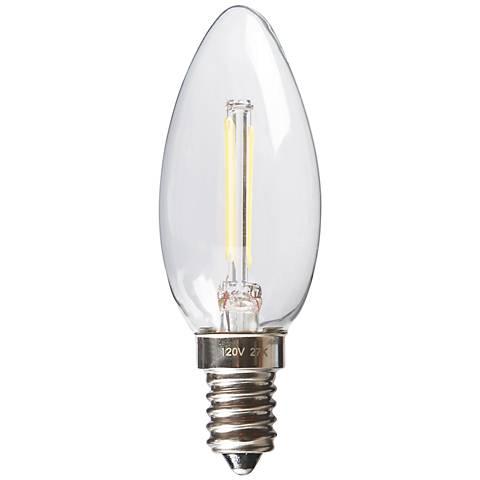 Torpedo 2 Watt Dimmable E12 Filament LED Candelabra Bulb