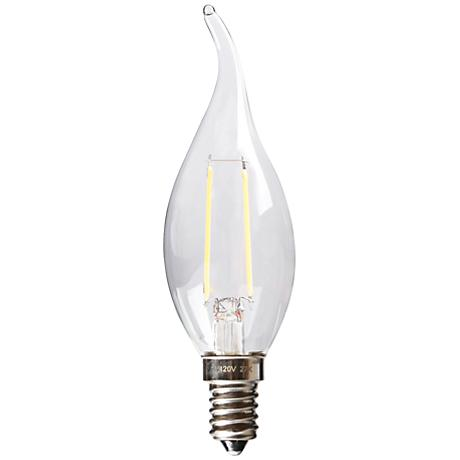 Dimmable Flame Tip 2 Watt E12 Filament LED Candelabra Bulb