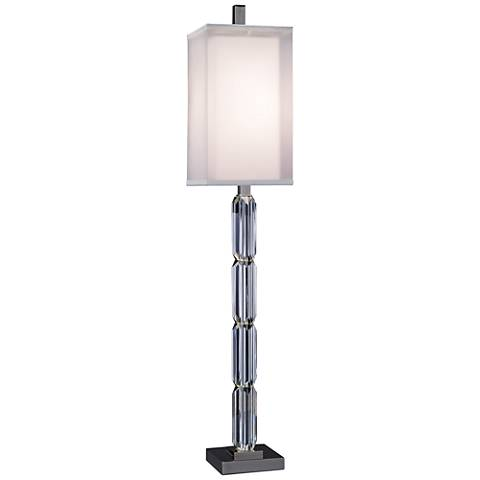 John Richard Stacked Crystal Prism Candlestick Table Lamp