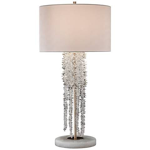 John Richard Small Cascading Waterfall Crystal Table Lamp