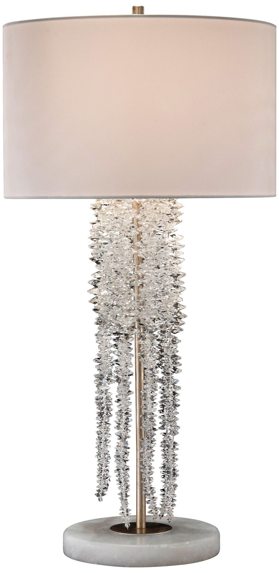 john richard small cascading waterfall crystal table lamp