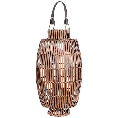Tropicale Medium Bamboo Lantern Votive Candle Holder
