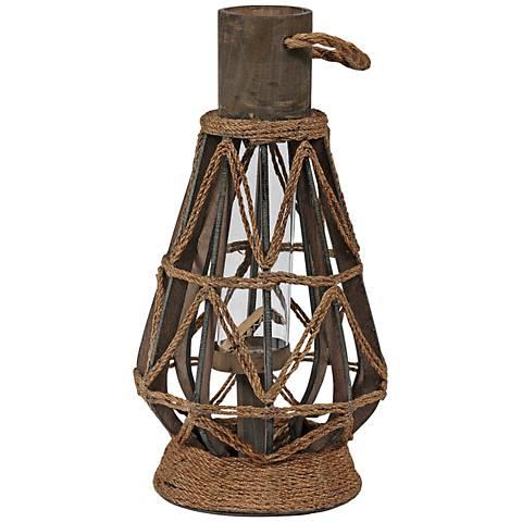 Midway Medium Vintage Rope Lantern Votive Candle Holder