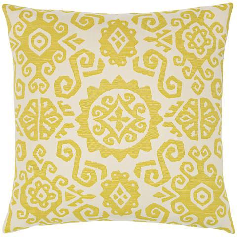 "Elaine Smith Citrine Sun 22"" Square Indoor-Outdoor Pillow"