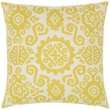"Elaine Smith Citrine Sun 22"" Square Indoor-Outdoor Pillow"