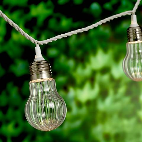 Vintage Light-Bulb Clear 10-Light Strand String Light Set