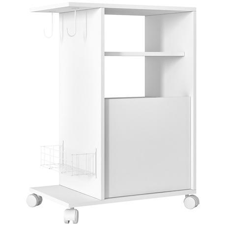 Modern Marina White Mobile Pantry