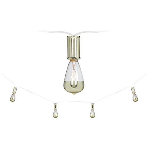 Vintage Gold 15-Light Strand Indoor String Light Set