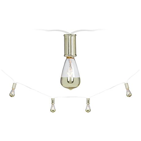 Indoor Retro String Lights : Vintage Gold 15-Light Strand Indoor String Light Set - #9T890 Lamps Plus