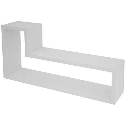 "Barabs Tetris White ""L"" Shaped Floating Wall Shelf"