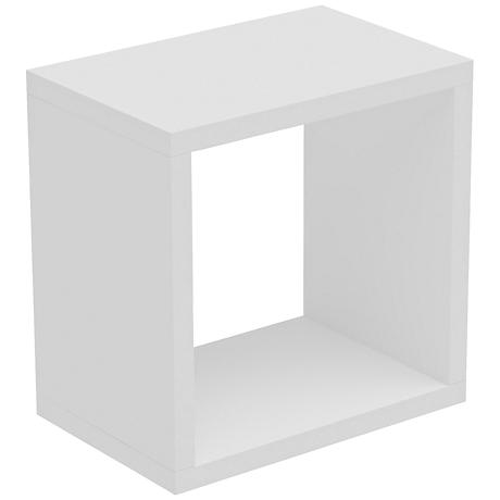 Sahara White Square Floating Decorative Shelf