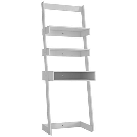 Urbane Carpina White Ladder Desk