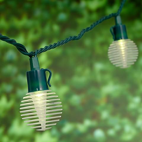 Laminated Lantern 10-Light LED Outdoor String Light Set - #9T918 Lamps Plus