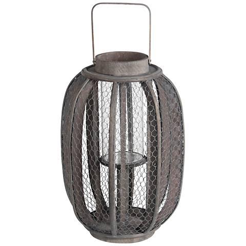 Sunboro Small Aged Pine Votive Lantern Candle Holder