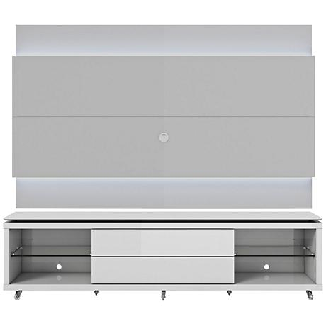 Lincoln TV Stand and 1.9 TV Panel in White Gloss