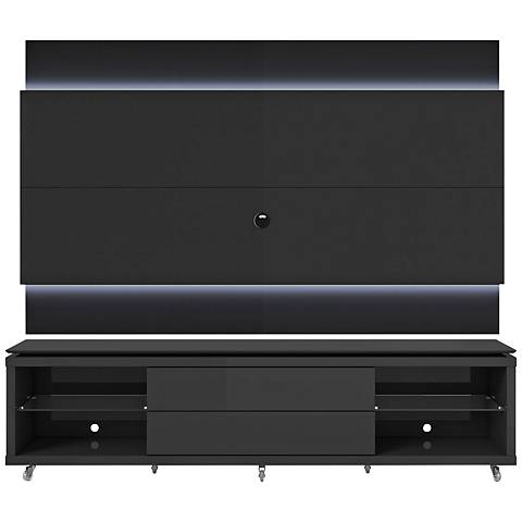 Lincoln TV Stand and 1.9 TV Panel in Black