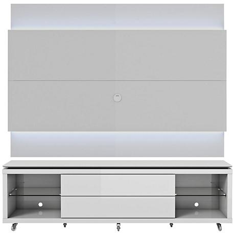 Lincoln TV Stand and 2.2 TV Panel in White Gloss