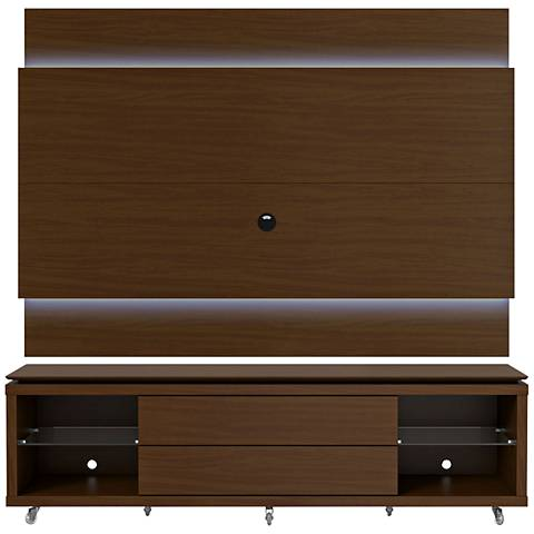 Lincoln TV Stand and 2.2 TV Panel in Nut Brown