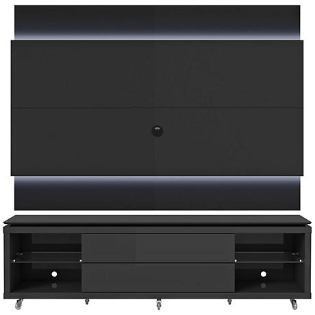 Lincoln TV Stand and 2.2 TV Panel in Black