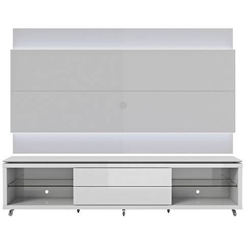 Lincoln TV Stand and 2.4 TV Panel in White Gloss