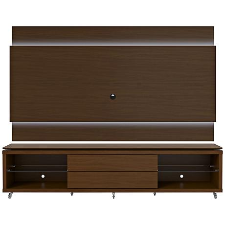 Lincoln TV Stand and 2.4 TV Panel in Nut Brown