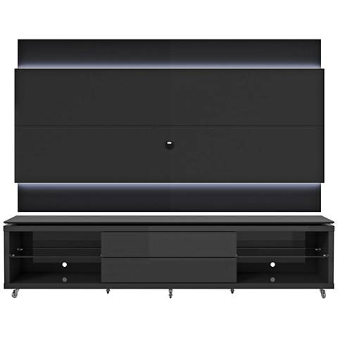 Lincoln TV Stand and 2.4 TV Panel in Black