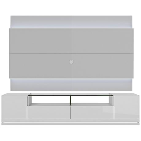 Vanderbilt TV Stand and Lincoln 2.2 TV Panel in White Gloss