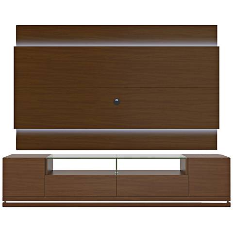Vanderbilt TV Stand and Lincoln 2.2 TV Panel in Nut Brown