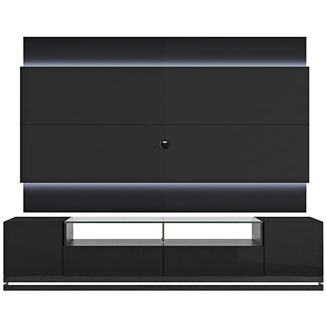 Vanderbilt TV Stand and Lincoln 2.2 TV Panel in Black