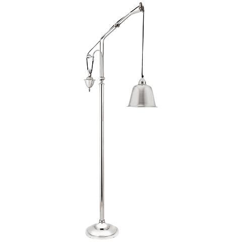 Dimond Hensley Counter Weight Nickel Floor Lamp