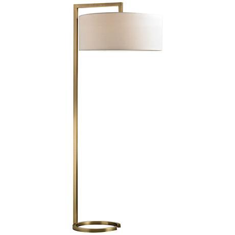 Dimond Ring Base Brass Floor Lamp
