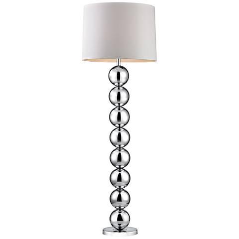Dimond Shimi Chrome Orb Metal Floor Lamp
