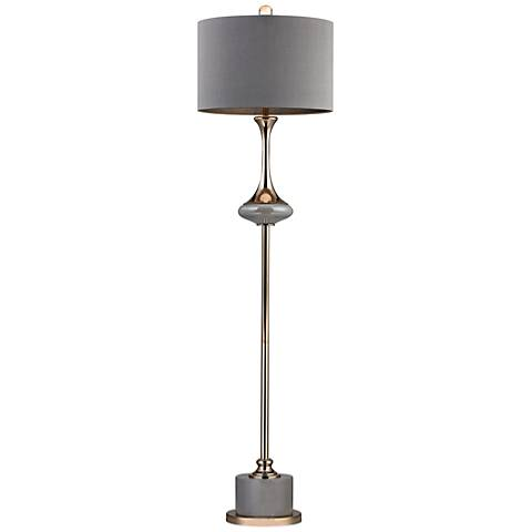 Dimond Gila Gold and Gray Fluted Neck Floor Lamp