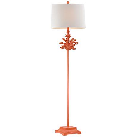 Dimond Sea Coral Peach Floor Lamp