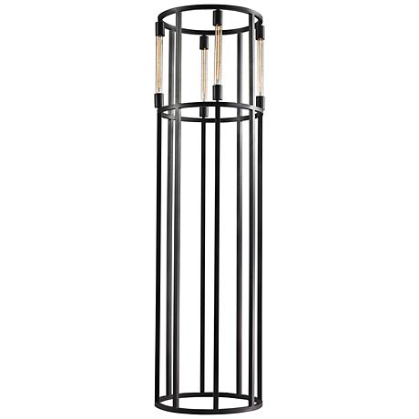 Dimond Onya Cylinder Tube Black Metal Contemporary Floor Lamp
