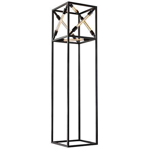 Dimond Toti Box Tube Black Metal Contemporary Floor Lamp