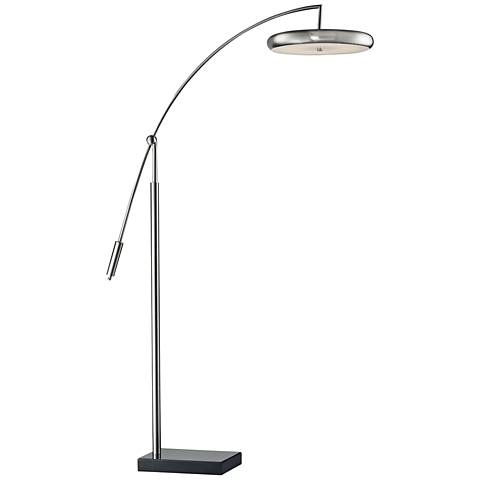 Dimond Arniel Arc Brushed Steel Metal LED Floor Lamp