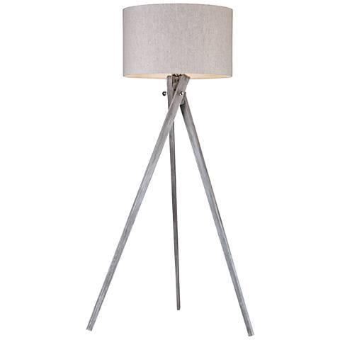 Dimond Whistler Black Ash Wood Floor Lamp