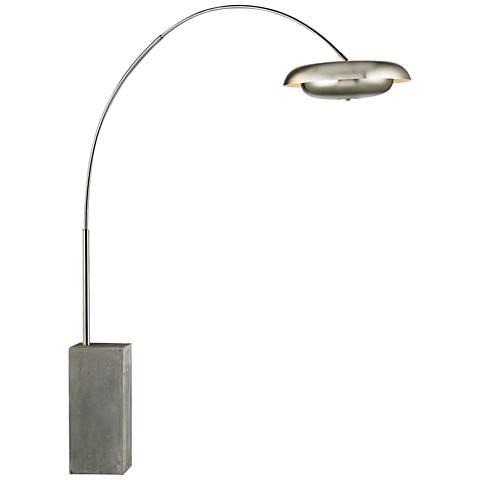 Dimond Berne Satin Nickel Metal Floor Lamp