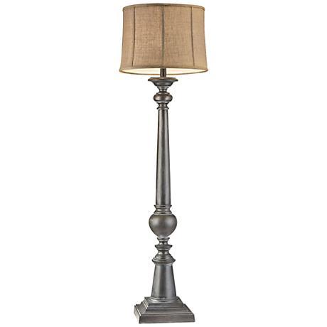 Dimond Mycroft Black Ash Column Floor Lamp