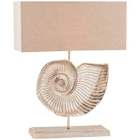 Nautilus Textured Nickel Metal Table Lamp