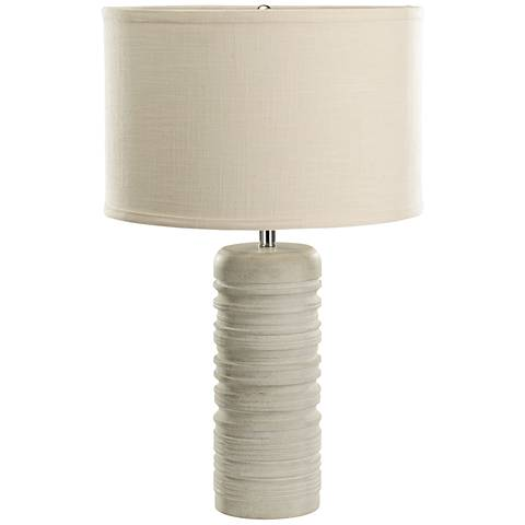 Silvia Ribbed Round Sand Stone Marble Table Lamp